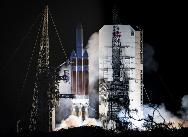 Parker Solar Probe begins its mission to unlock the mysteries of our star on Sunday, Aug. 12, 2018 with a ride atop a  Delta IV Heavy rocket at Launch Complex 37 at Cape Canaveral Air Force Station, Florida.