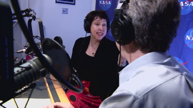 "Parker Solar Probe Project Scientist Nicky Fox of the Johns Hopkins University Applied Physics Lab is interviewed at NASA Headquarters about the Sun and the mission for the new ""Gravity Assist"" podcast that launched Nov. 15, 2017."