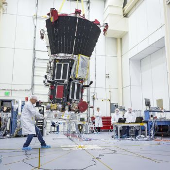 Parker Solar Probe is about to be launched... into a gentle arc. By swinging the probe past magnetometers, the team can characterize the spacecraft's own magnetic field.